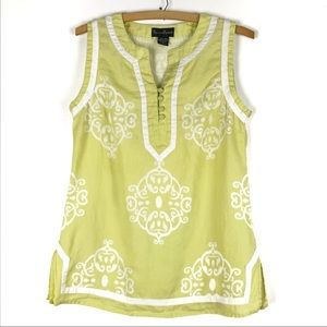MERCER MADISON blouse Medium green 100% linen t115
